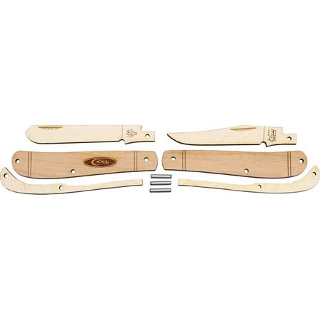 (Case Cutlery CA207W Case Wooden Mini Trapper Knife Kit, Brown)