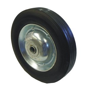 8-Inch Solid Rubber Tire with Zinc Plated Rim 300