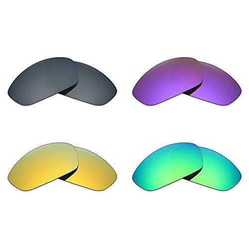 c335f4e4019 Mryok 4 Pair Polarized Replacement Lenses for Oakley Straight Jacket 2007  Sunglass - Black IR . Tap to expand