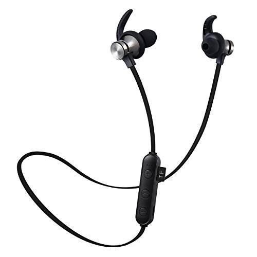 Bluetooth Headphones, Wireless Magnetic Earphones with IPX6 Waterproof HD Stereo Earbuds for Gym Running Workout, Bluetooth 4.1 Noise Cancelling Headphones