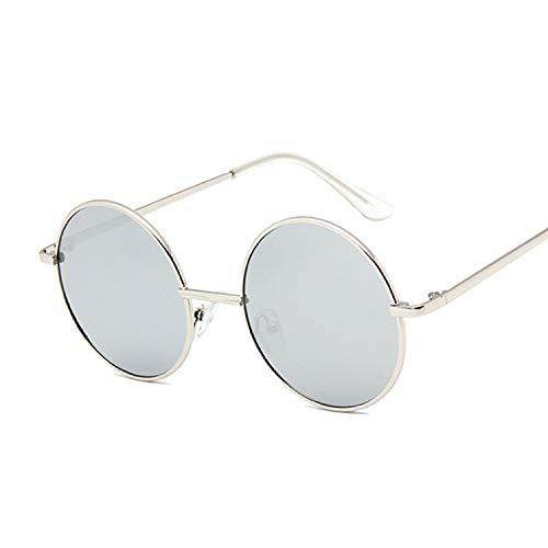 En Petit Vintage Soleil Lunettes Rétro Eyewear Silversilver Métal Cercle De Yuhangh Femmes Pour Rondes wvHfxXwRq