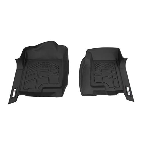 Westin Wade 72-110030 Black Sure-Fit Front Right and Left Molded Floor Mat Set - 1 Pair
