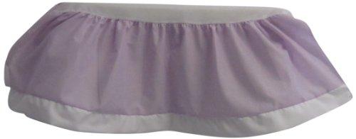 (Baby Doll Bedding Regal nuetral Dust Ruffle/Crib Skirt, Purple Lavender)