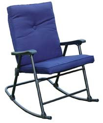Prime Products 13-6602 La Jolla California Blue Rocker Chair - Folding Camp Rocking Chair