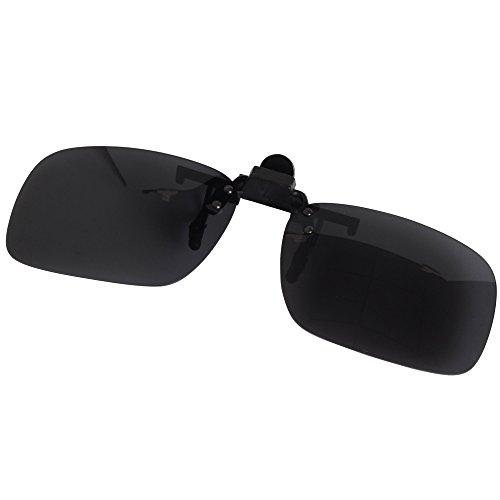 Jee mujer sol on LTS005 hombre up polarizadas negro Gafas flip 55mm de clip TIqwEIr