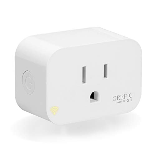 Wi-Fi Smart Plug Compatible With Alexa and Google Assistant,Grefic Mini Wireless Smart Outlet-Remote Control Your Device From Anywhere, No Hub Required