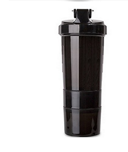 Proportional Shaker Bottle with 17 Oz Bottle, 2 Twist n' Lock Storage Plus Pills Tray