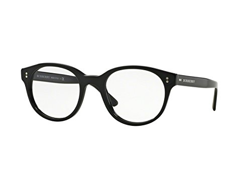 Burberry Men's Optical Frame Acetate Black Frame/Transparent Lens Non-Polarized Glasses 50 - Shades Burberry Men