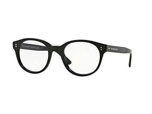 Burberry Men's Optical Frame Acetate Black Frame/Transparent Lens Non-Polarized Glasses 50 - Price Glasses Burberry