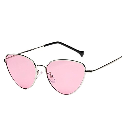 Aviador D Moda de Espejo Sol de de Ojo de Logobeing Retro Gafas Verano Gafas Vintage Unisex Gato Lente Viaje tWqU0t1wR