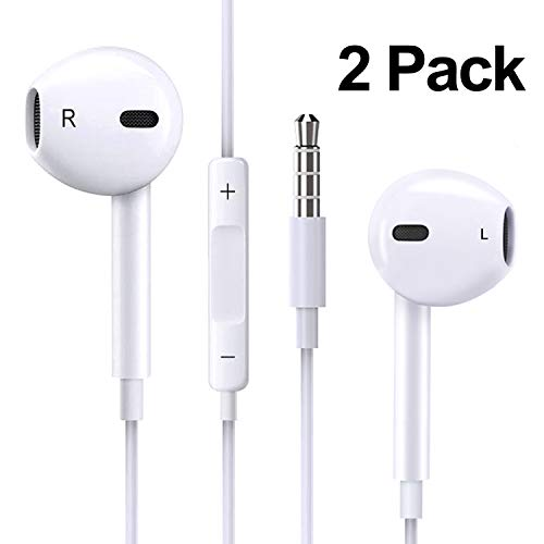 2PACK Earbuds Microphone with Volume Control, Stereo for sale  Delivered anywhere in USA