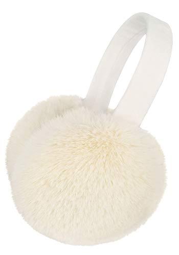 Simplicity Unisex Warm Furry Folding Ear Warmers Ear Muffs Winter, Cream