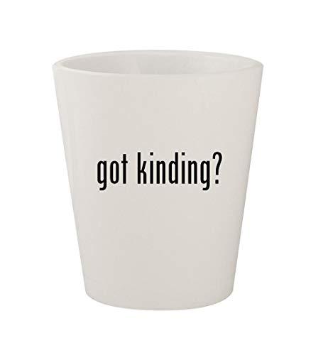 got kinding? - Ceramic White 1.5oz Shot Glass