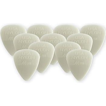Dunlop Nylon Standard Picks, Cream .46mm, Qty 12