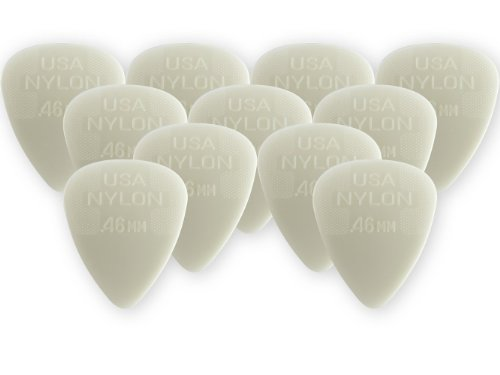 Dunlop 44P.46 Nylon Standard, White, .46mm, 12/Player's Pack (Guitar Pick Usa)