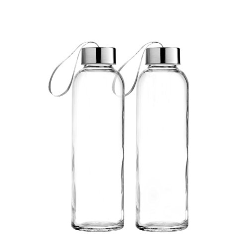 ass Bottles, 18/10 Stainless Steel Cap with Easy to Carry Loop (6 Pack, 4 Pack, 2 Pack Available) (2) ()