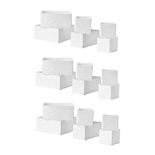 Ikea Skubb Storage Box,drawer Organizer,multiuse SET OF 18, White