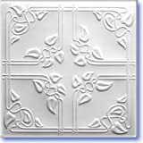 Ceiling Tiles Panels R-37 Pack of 4''19''5x19''5 Insulated Glued Over Flat Surface, Also Glued Over Secure Popcorn,glue On,tape On!