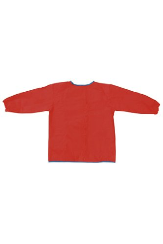 8 Pack CHENILLE KRAFT COMPANY LONG SLEEVE ARTIST SMOCK RED by Chenille Kraft