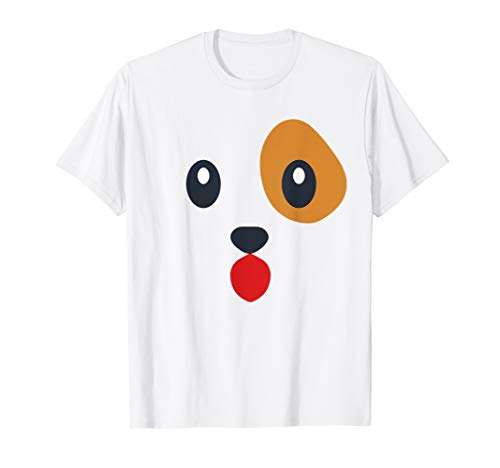 Puppy Dog Emoji Face Halloween Costume Party T-Shirt ()