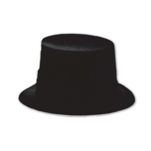 [Beistle 66634 Black Velour Topper, 24 Hats Per Package] (Hollywood Themed Costumes Women)