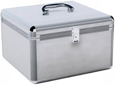 Aluminio Look maletín para 200 DVD/CD/Blu-Ray 200ER DJ Box/Case para CDs DVDs: Amazon.es: Electrónica