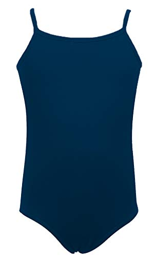 Dancina Girls Leotard Camisole - Body Suit for Gymnastics Training 4 Navy Blue