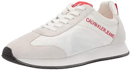 - Calvin Klein Jeans Women's Jill Sneaker, Bright White Nylon/Suede, 8 M M US