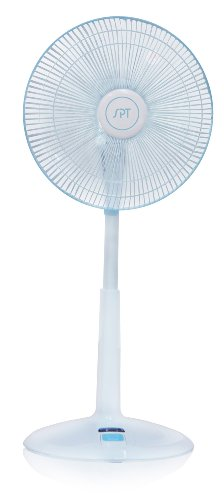 Sunpentown SF-1468 3-Speed Oscillating 14-Inch Standing Fan with Remote - Shopping Sf Mall