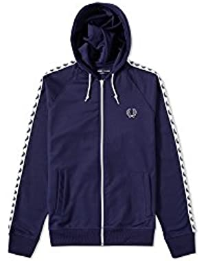 Men's Hooded Tape Track Jacket Blue