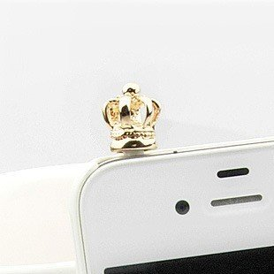 iClover Earphone Jack Accessories Gold Crown / Cell Charms / Dust Plug / Ear Jack For Iphone 4 4S / iPad / iPod Touch / Other 3.5mm Ear - Phone Crown Cell Charms