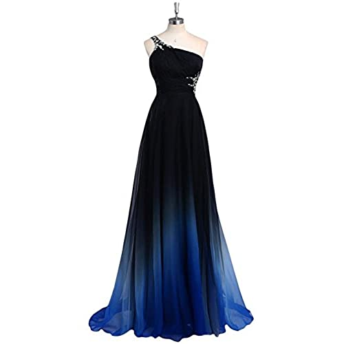HTYS 2016 Gradient Color Prom Evening Dress Beaded Ball Gown HY074