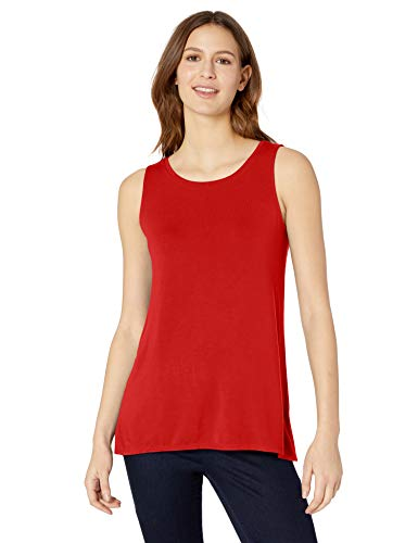 Amazon Essentials Women's Solid Swing Tank, Red Coral, S ()