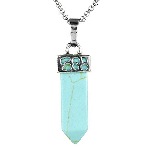 BEADNOVA Gemstone Necklace Healing Stainless