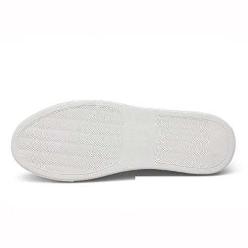 automne Nouvelle Chaussures Mens Sneakers Sport Printemps Sport Course Cuir black Pour 42 Bas Occasionnels En Hommes Lacets top De qzzwrvX