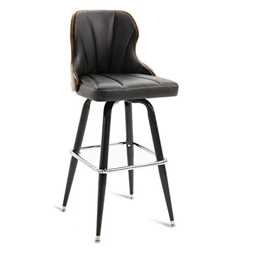 Front Desk Stool- Bar Counter Retro Iron Art Bar Lounge Chair Clubhouse Restaurant Living Room Coffee Shop Stool JINRONG (Color : D, Size : 4444101CM)