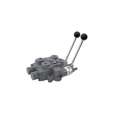 """Prince RD522CCAA5A4B1 Directional Control Valve, Two Spool, 4 Ways, 3 Positions, Tandem Center, Cast Iron, 3000 psi, Lever Handle, 25 gpm, In/Out: 3/4"""" NPTF, Work 1/2"""" NPTF by Prince Manufacturing"""