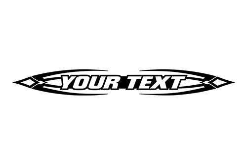 Sticky Creations   Design  150 Your Custom Text Personalized Customized Lettering Tribal Scallop Windshield Decal Sticker Vinyl Graphic Rear Back Window Car Suv Boat   36 X4 25    Black