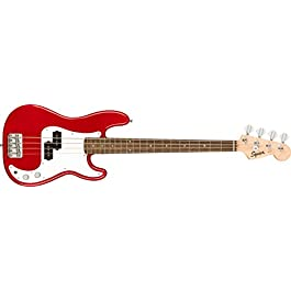 Squier Mini Precision Bass Electric Bass – Dakota Red with Laurel Fingerboard
