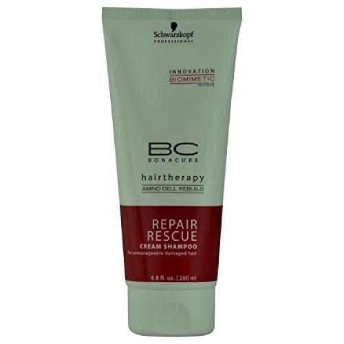 (Schwarzkopf BC Bonacure Repair Rescue Cream Shampoo, 200ml/6.8 oz)