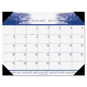 House of Doolittle 140HD One-Color Photo Monthly Desk Pad Calendar, 22 x 17, 2016