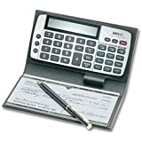 ABC Checkbook Calculator, Personal Sized, Gray