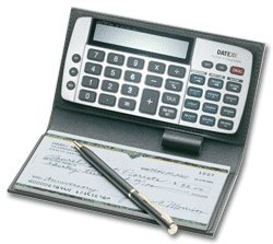 ABC Checkbook Calculator, Personal Sized, Gray deluxe 2341