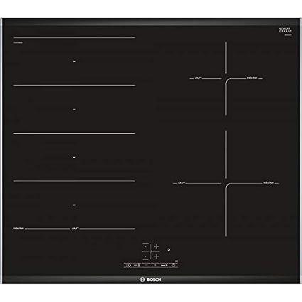 Bosch PXE675BB1E Encimera 3 Fuegos, 3300 W, Vidrio y ...