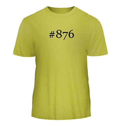 (Tracy Gifts #876 - Hashtag Nice Men's Short Sleeve T-Shirt, Yellow, Medium)