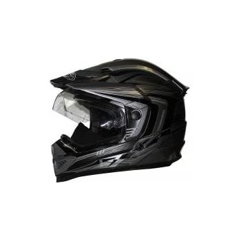 Zox Rush SFX Full Face Multi-Purpose Motorcycle Helmet w//Visor Motorcycle ATV Off Road MX Enduro Matte Black, Medium