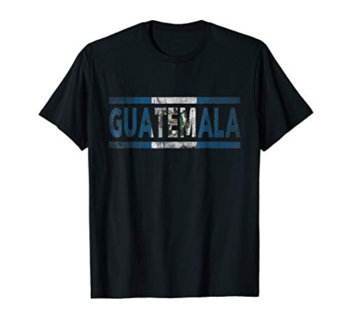 - Mens Guatemala Retro Flag T-Shirt Guatemalan Distressed Graphic 2XL Black