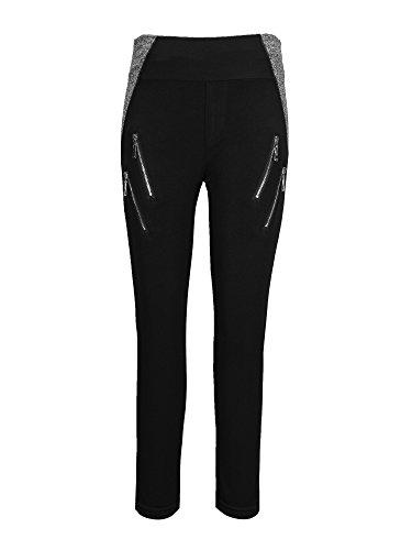 Zipper Leggings Pants - 3