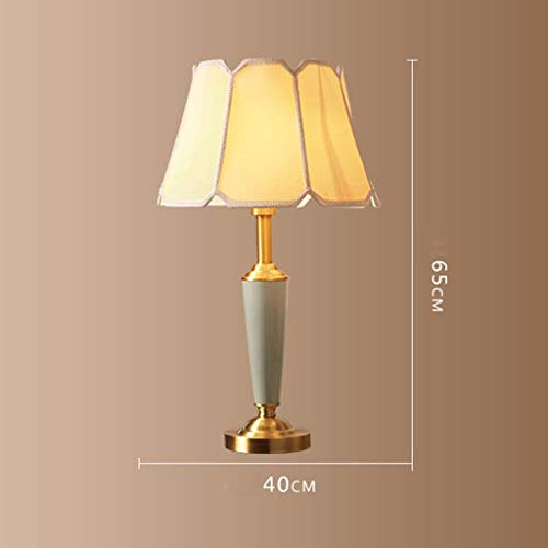 American Lighting Vintage Desk Lamp - AOLIr Led Ceramic Table Lamp, American Vintage Decoration Lamp for Bedroom, Bedside, Living Room, Study(E27,40W),A