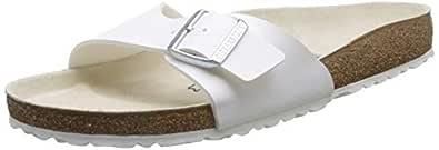 Birkenstock Madrid White Womens Sandals, 10 AU